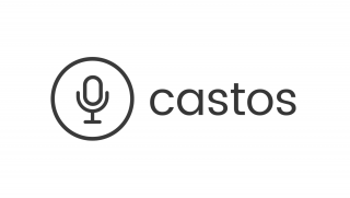 Castos logo consisting of a podcast microphone sketch in a circle