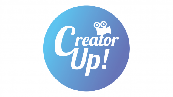 Blue CreatorUp! logo icon on a white background