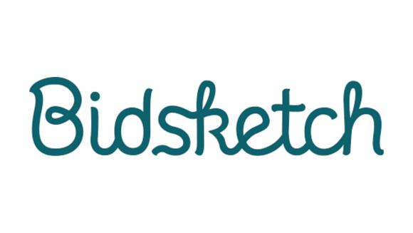 Bidsketch script logo on white background