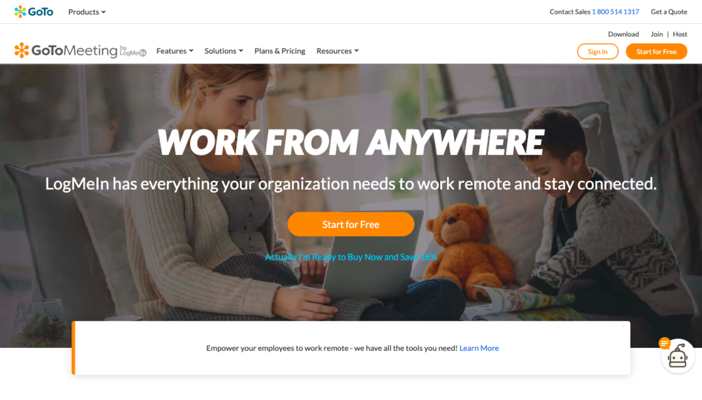 Gotomeeting video software