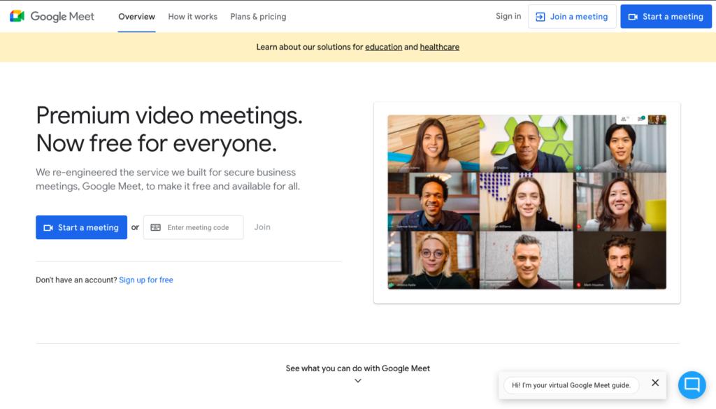 Google Meet Video Software