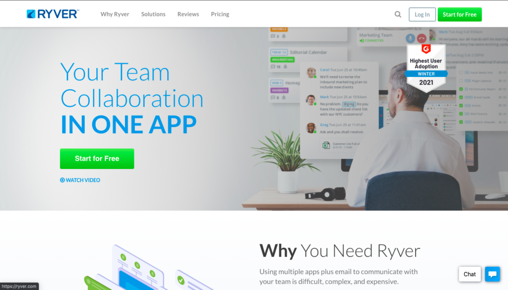 Ryver chat software