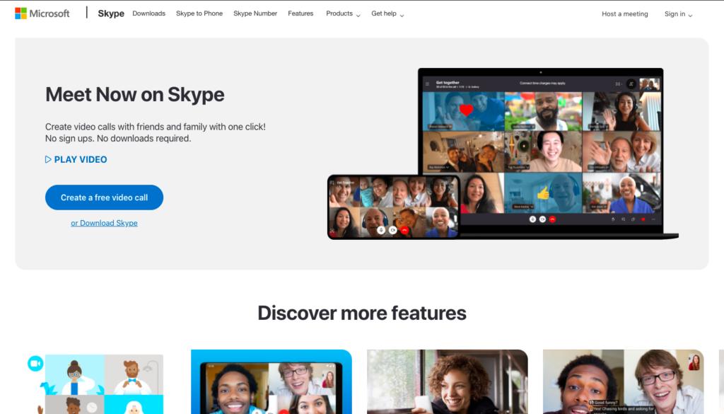 Skype video software