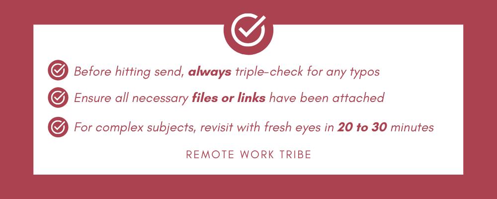 Self-edit checklist
