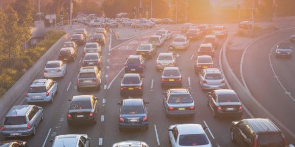 Dozens of cars stuck in traffic