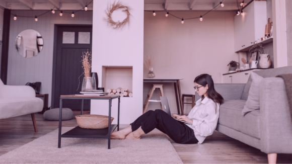 women working from home